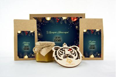 Новогодние подарки бизнес-партнерам с клюквой, чаем и медом. Арт: te34_011