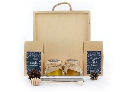 Подарок учителю в деревянной коробке