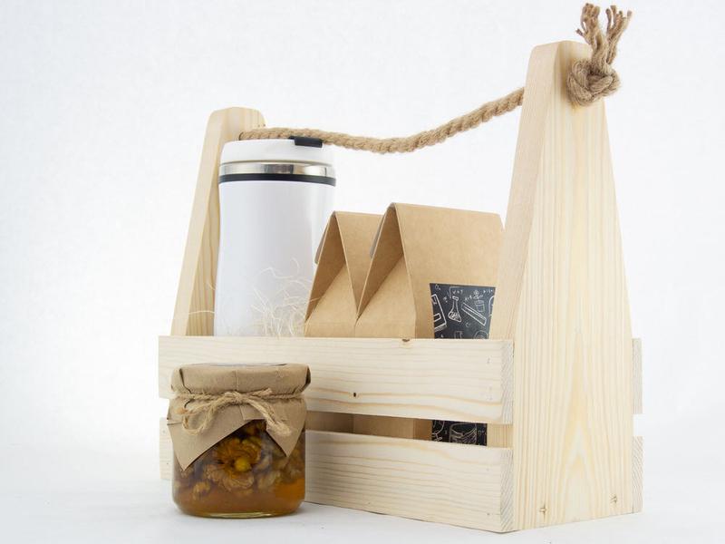 Набор на День учителя в деревянном ящике uc171 - 2 - День Учителя - EcoGift.by