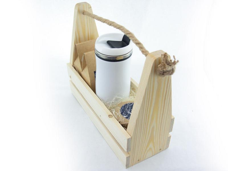 Набор на День учителя в деревянном ящике uc171 - 5 - День Учителя - EcoGift.by