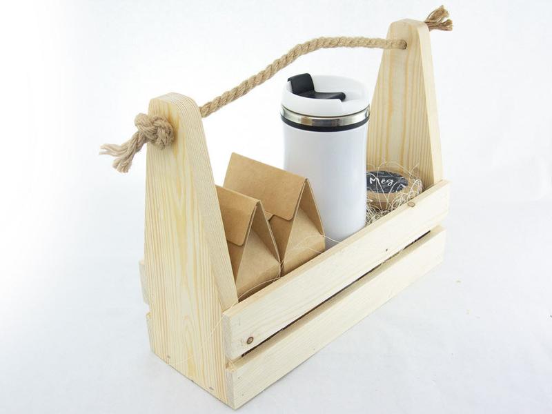 Набор на День учителя в деревянном ящике uc171 - 4 - День Учителя - EcoGift.by