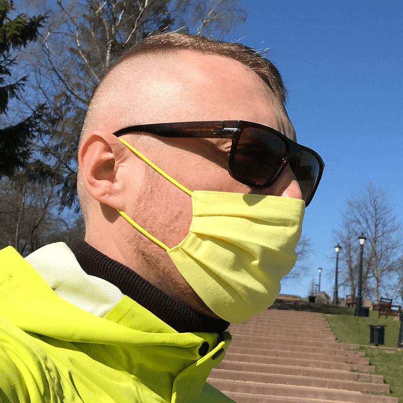 Желтая защитная маска