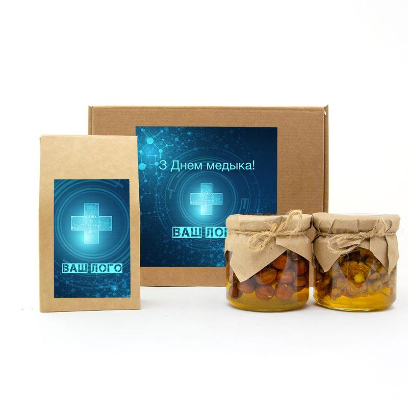 Набор с чаем и медом te385 - 1 - День медика - EcoGift.by