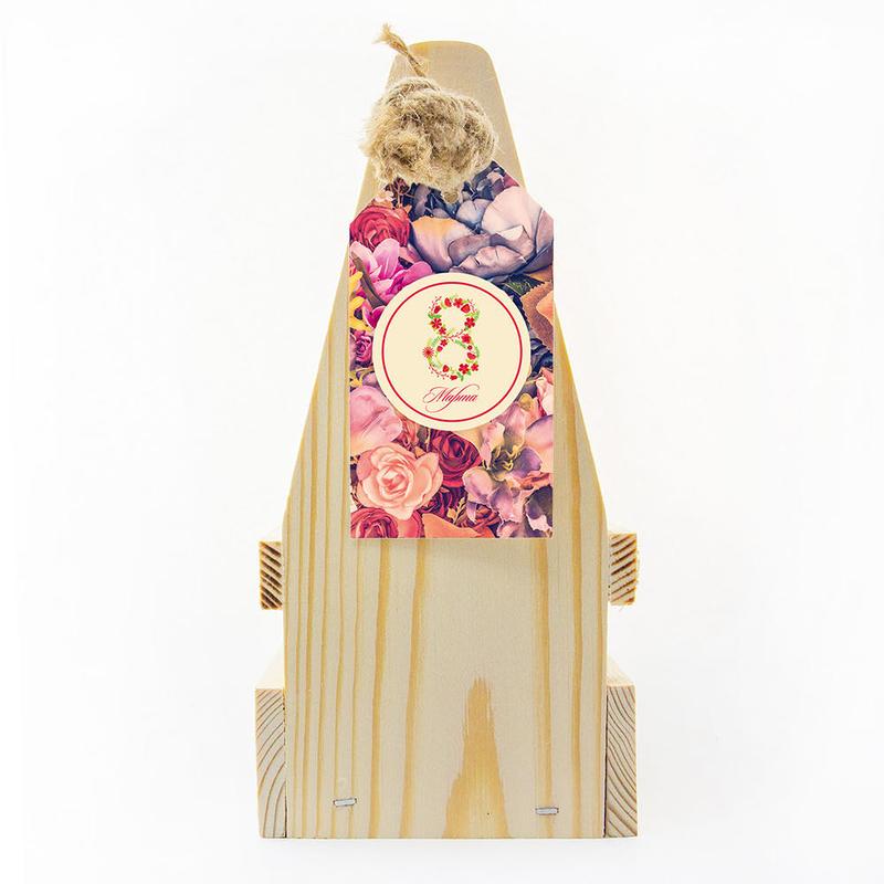 Набор «8 марта» с чаем, клюквой с айвой, медом и джемом te5028 - 7 - Весь каталог - EcoGift.by