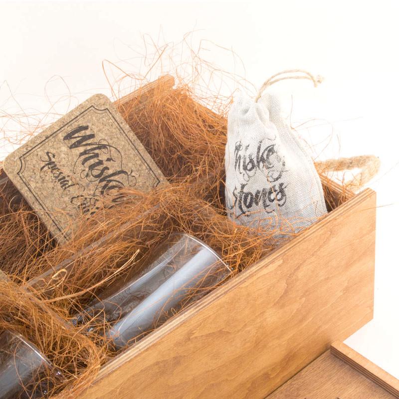 Отделы коробки набора для виски «Eco Whiskey Premium»