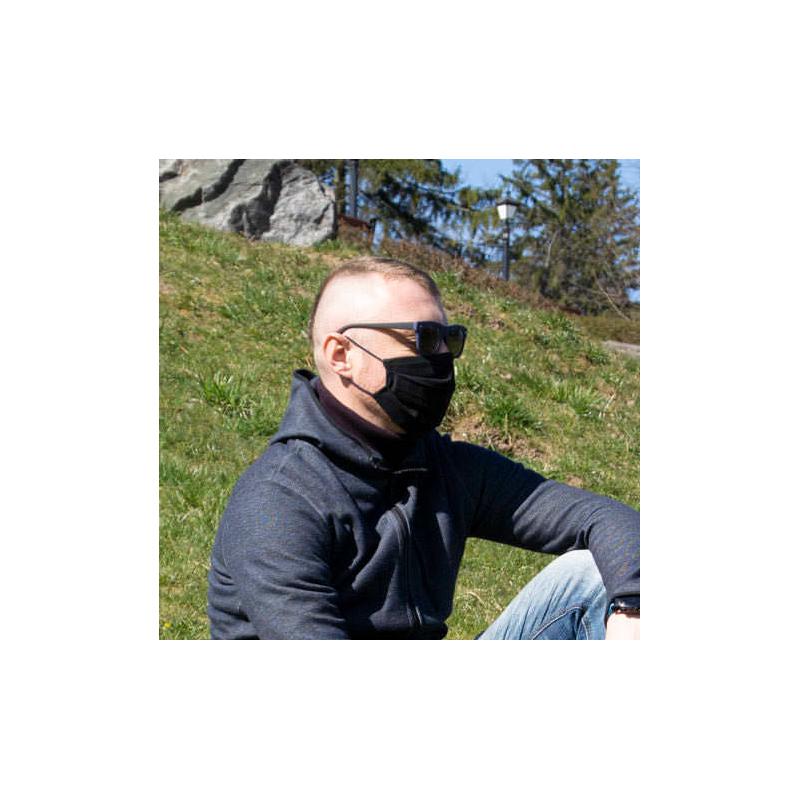 Черные многоразовые защитные маски