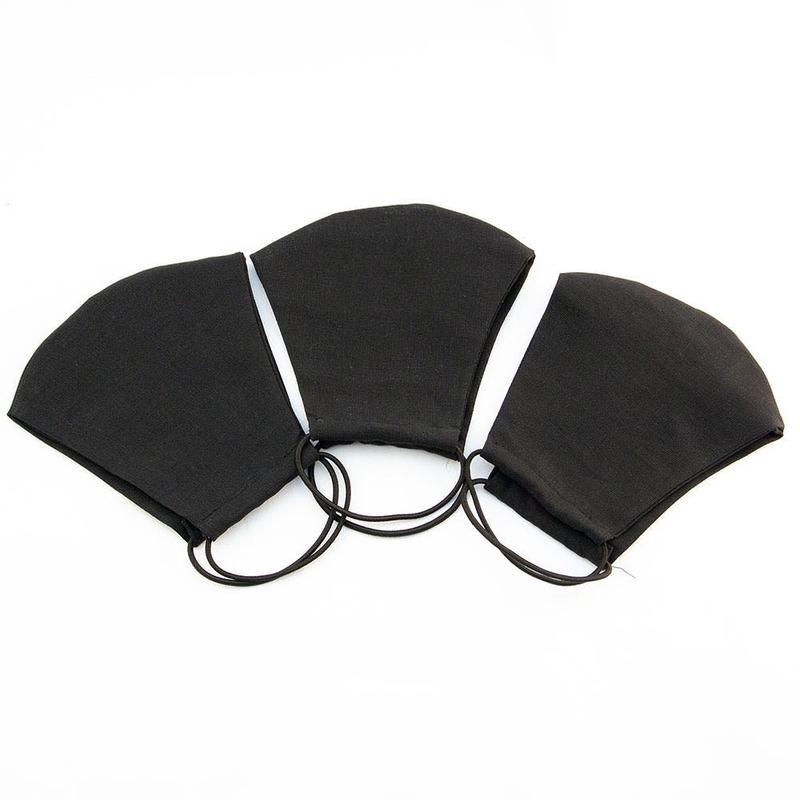 Черная защитная маска в сложенном виде