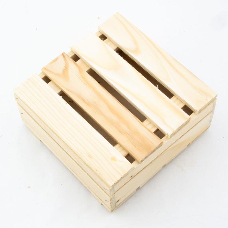 Деревянный ящик 17,6х17,6х8,1 см