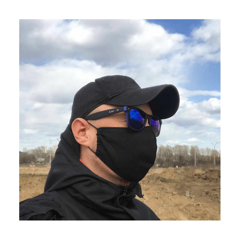 Внешний вид черной защитной маски
