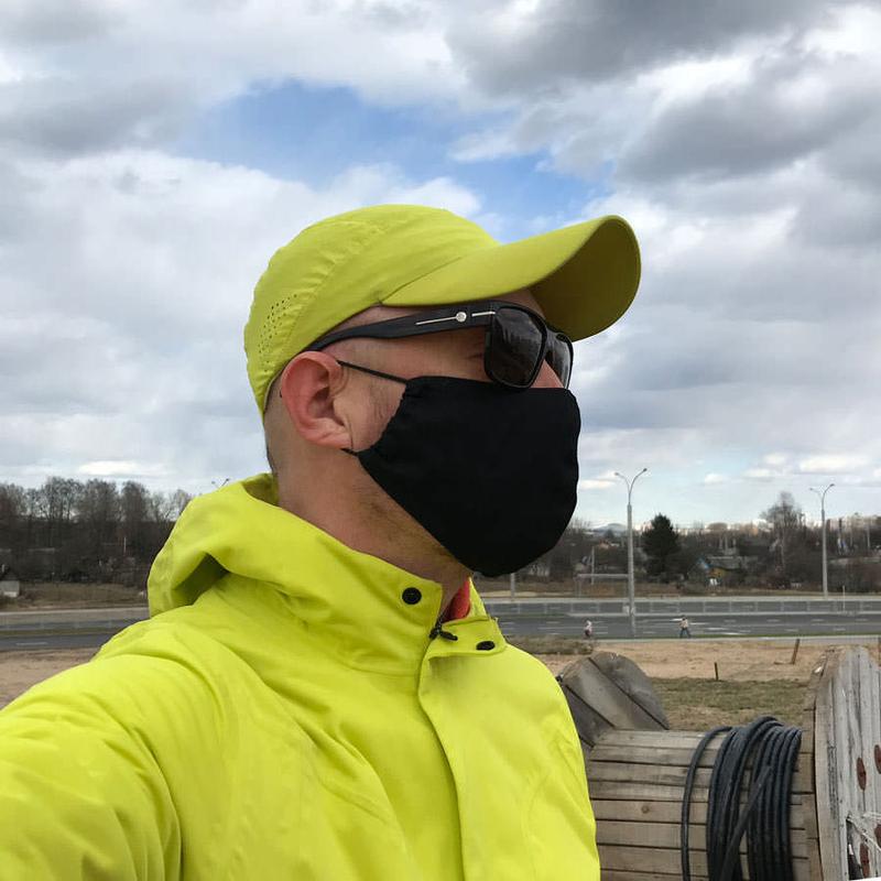 Внешний вид защитной черной маски