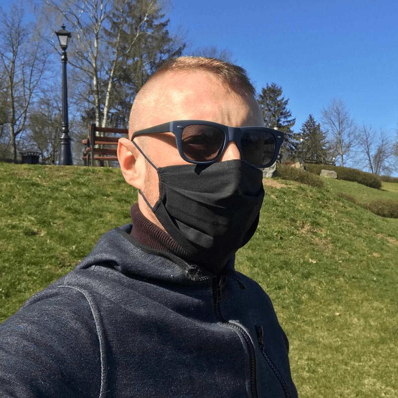 Черные защитные маски