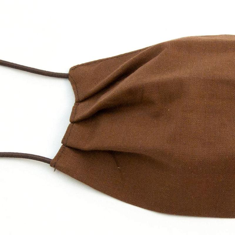 Многоразовые защитные маски коричневого цвета