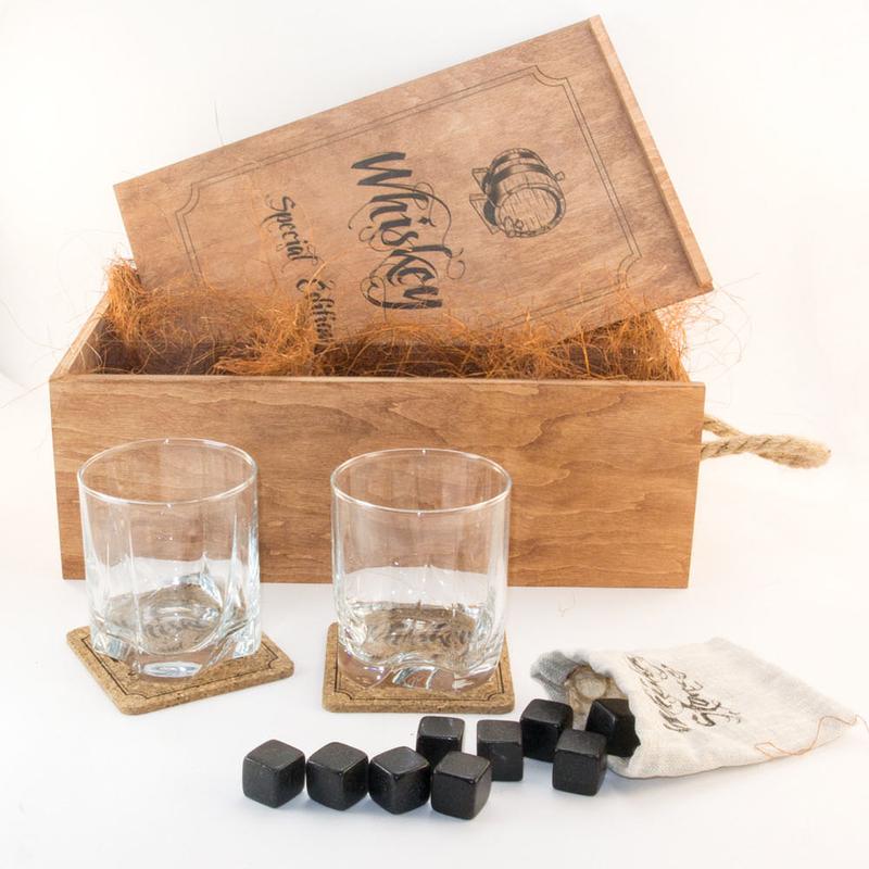 Набор для виски в деревянной коробке